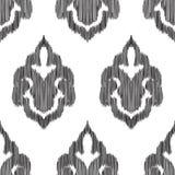 Ikat无缝的样式 时尚墙纸 库存图片