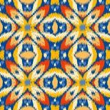 Ikat织品样式,地毯纹理样式 向量例证