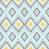 Ikat织品样式,地毯纹理样式 库存例证