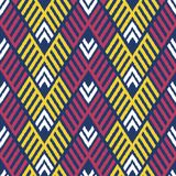 Ikat Bezszwowy Deseniowy projekt dla tkaniny Zdjęcia Royalty Free
