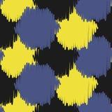 Ikat bold dots vector seamless pattern. Royalty Free Stock Image