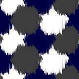 Ikat bold dots vector seamless pattern. Stock Photo