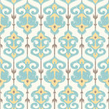 Ikat damask pattern in pastel colors. Ikat damask seamless pattern ornamental background in pastel colors Stock Photo