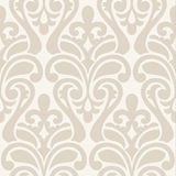Ikat Damask Seamless Background Pattern Stock Photo