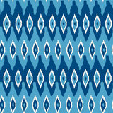Ikat damask seamless pattern. Stock Photo