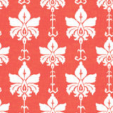 Ikat damask seamless pattern Royalty Free Stock Photos