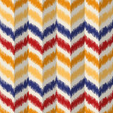 Ikat fabric pattern, vector illustration. Royalty Free Stock Images