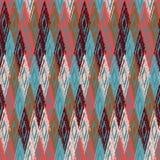 Ikat fabric seamless background Stock Photo