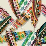 Ikat feather pattern Stock Photos