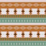 Ikat geometric folklore batik ornament. Tribal ethnic vector texture. Seamless striped pattern in Aztec style. Figure tribal. Embroidery. Indian, Scandinavian stock illustration