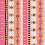 Ikat geometric folklore batik ornament. Tribal ethnic vector texture. Seamless striped pattern in Aztec style. Figure tribal. Embroidery. Indian, Scandinavian royalty free illustration