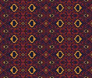 Ikat geometric folklore ornament. Oriental vector damask pattern. Ancient art of Arabesque. Tribal ethnic texture. Spanish motif on the carpet. Aztec style vector illustration