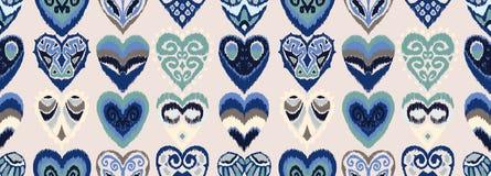 Ikat geometric folklore ornament. Oriental vector damask pattern. vector illustration