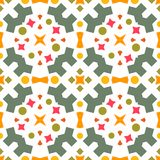 Ikat geometric folklore ornament. Seamless striped pattern vector illustration