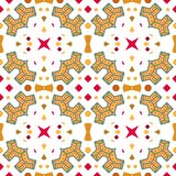 Ikat geometric folklore ornament. Tribal ethnic vector texture. Seamless striped pattern in Aztec style. Figure tribal embroidery. Boho style, Indian stock illustration