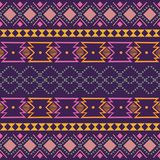 Ikat geometric folklore ornament. Tribal ethnic vector texture. Seamless striped pattern in Aztec style. Figure tribal embroidery royalty free stock images