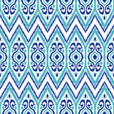Ikat geometric folklore pattern. royalty free illustration