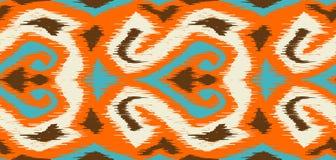 Ikat geometric folklore pattern. stock illustration