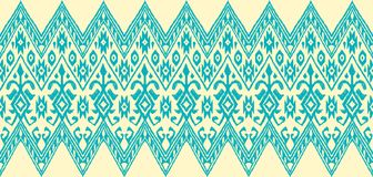 Ikat geometric folklore pattern. vector illustration