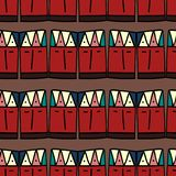 Ikat geometric pattern with tribal background vector texture. Seamless striped motif in Aztec symbol. Hand drawn ethnic with vector illustration