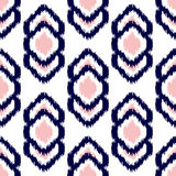 Ikat geometric seamless pattern. Pink and blue collection. Stock Images