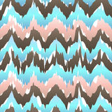 Ikat geometric seamless pattern. rose and blue colors collection.. Indonesian textile fabric tie-dye technique inspiration. Rhombus and drop shapes. vector art Stock Photos
