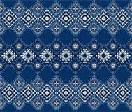 Ikat geometrisk folkloreprydnad Stam- etnisk vektortextur Sömlös randig modell i Aztec stil royaltyfri illustrationer