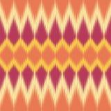 Ikat Muster Ethnisches Gewebe Ikat-Druck Vektortapete stock abbildung