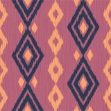 Ikat Muster Ethnisches Gewebe Ikat-Druck Vektortapete Lizenzfreie Stockbilder