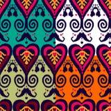 Ikat-Mustersatz Stockfoto