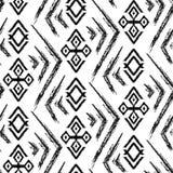 Ikat Ogee背景-种族民间无缝的样式 皇族释放例证
