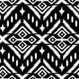 Ikat Ogee背景-种族民间无缝的样式 库存例证