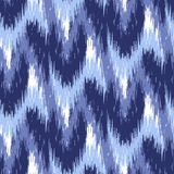 Ikat Ogee Background 13. Blue Ikat Ogee Seamless Background Pattern Royalty Free Illustration