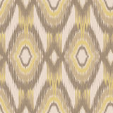 Ikat Ogee Background  11. Ethnic folk seamless pattern Ikat Ogee, consisting of beige and gold elements Royalty Free Stock Images