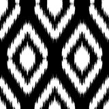 Ikat Ogee Background  36. Seamless monochrome Ikat Ogee Background Pattern Stock Photos