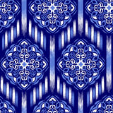 Ikat Ogee Background  17 Stock Photography