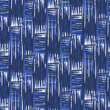 Ikat Ogee Background  52. Seamless pattern Tribal Art  Ikat Ogee in traditional classic blue and white colors Stock Image