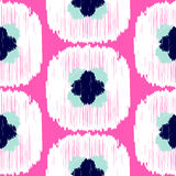 Ikat ogee vector seamless pattern. Royalty Free Stock Photography