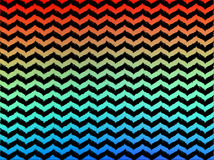 Ikat Ombre Wavy Chevrons Stock Photography