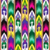 Ikat Oostelijke stof Aziatisch patroon Traditionele nationale kleren vector illustratie