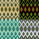 Ikat pattern set Royalty Free Stock Photo