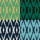Ikat pattern set Royalty Free Stock Photo