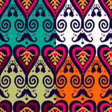 Ikat pattern set. Ikat native pattern in four colours set Stock Photo