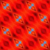 Ikat rojo geométrico raya elementos dibujados mano inconsútil del fondo del modelo Imágenes de archivo libres de regalías