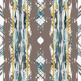 Ikat seamless geometric pattern shibori vector illustration