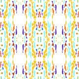 Ikat seamless geometric pattern shibori surface stock illustration