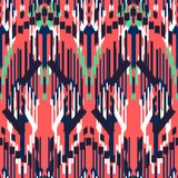 Ikat Seamless Pattern Design. Ethnic fabric. Bohemian fashion stock illustration