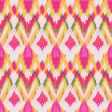 Ikat Seamless Pattern Design for Fabric.  Royalty Free Stock Images