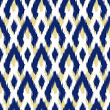 Ikat Seamless Pattern Design for Fabric Stock Photo