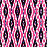 Ikat Seamless Pattern Design for Fabric.  Royalty Free Stock Image